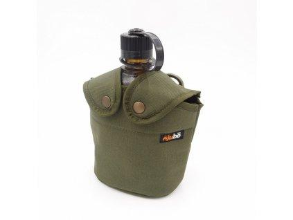 Obal/Puzdro JUBÖ BUSHCRAFT pre poľnú fľašu US 1l - olive