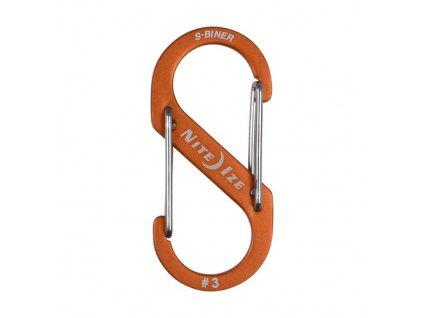 Karabína SBA3-19-R6 Nite Ize S-Biner Aluminum Dual Carabiner 3 - Orange