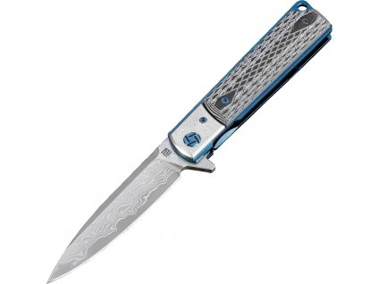 Zatvárací nôž Artisan Classic Linerlock Damascus ATZ1802GDBK