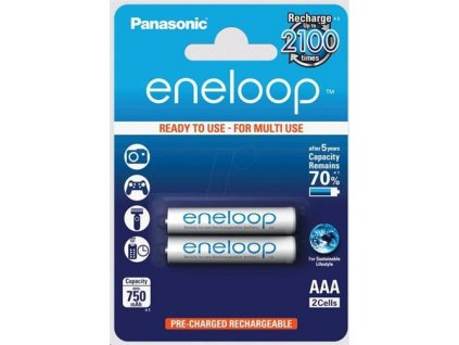 Dobíjacie batérie BK-4MCCE-2BE Panasonic Eneloop R03/AAA 750mAh – blister 2 ks