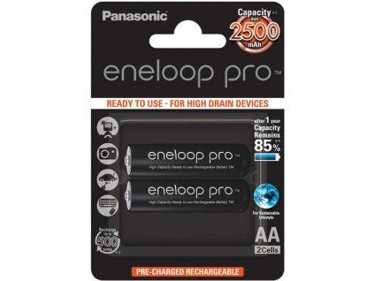 Dobíjacie batérie BK-3HCDE/2BE Panasonic Eneloop Pro AA 2500mAh 2ks 3HCDE/2BE