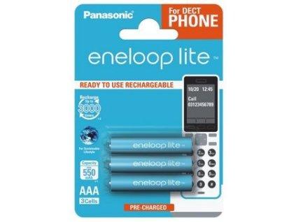 Dobíjacie batérie BK-4LCCE/3DE Panasonic Eneloop Rechargeable Lite R03 AAA 3ks 550mAh