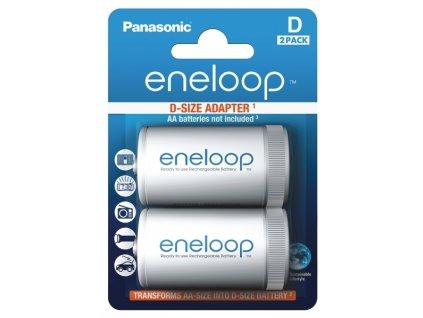Adaptér na batérie BQ-BS1E/2E Panasonic Eneloop 2ks R20/D Adaptor (from R6 AA to R20)