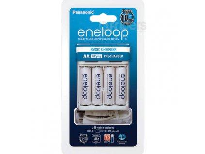 Dobíjacie batérie a nabíjačka BQ-CC61 Panasonic Eneloop Charger BQ-CC61 + 4 x AA Eneloop
