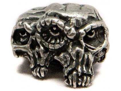 Kovová korála Schmuckatelli Co Gemini Twins Skull Bead