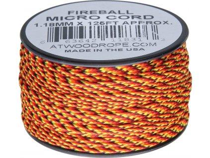 Šnúra Micro Cord Atwood Rope MFG Fireball RG1262