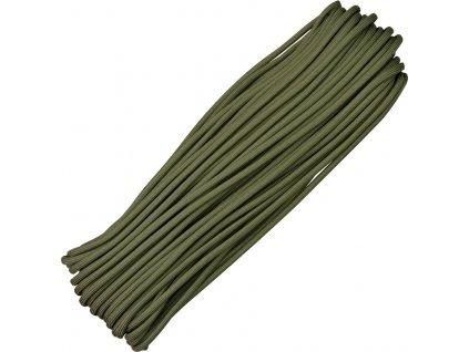 Parašutistická šnúra Atwood Rope MFG Parachute Cord Olive Drab RG023H