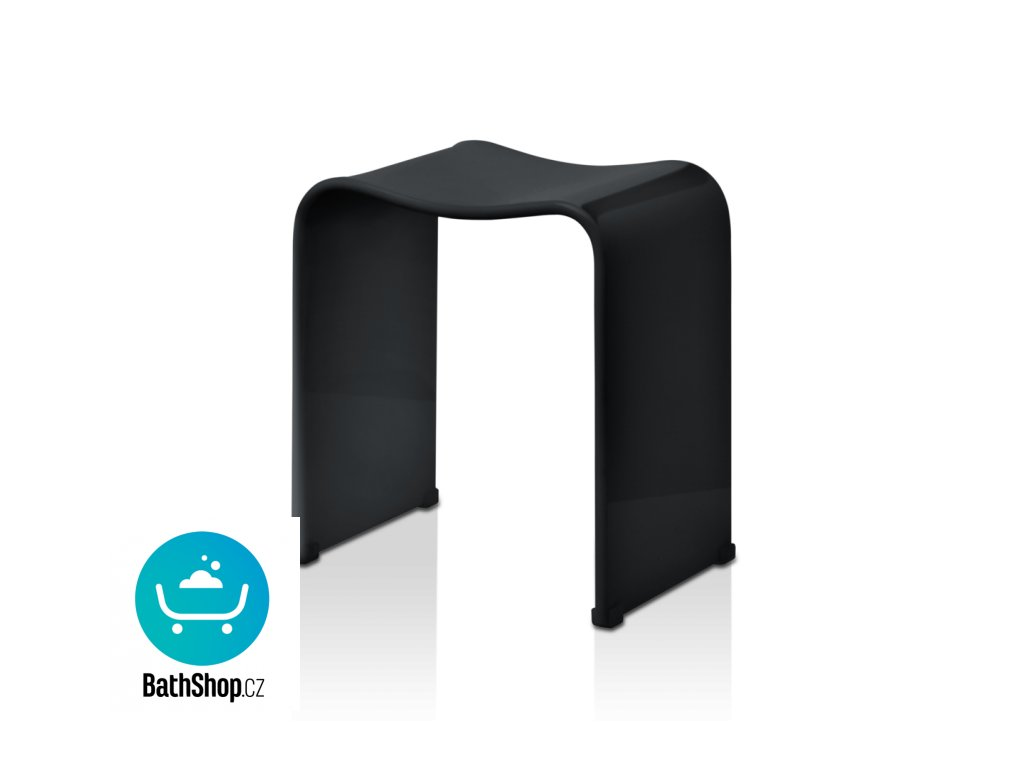 Akrylová sprchová židlička , černá - 0506860