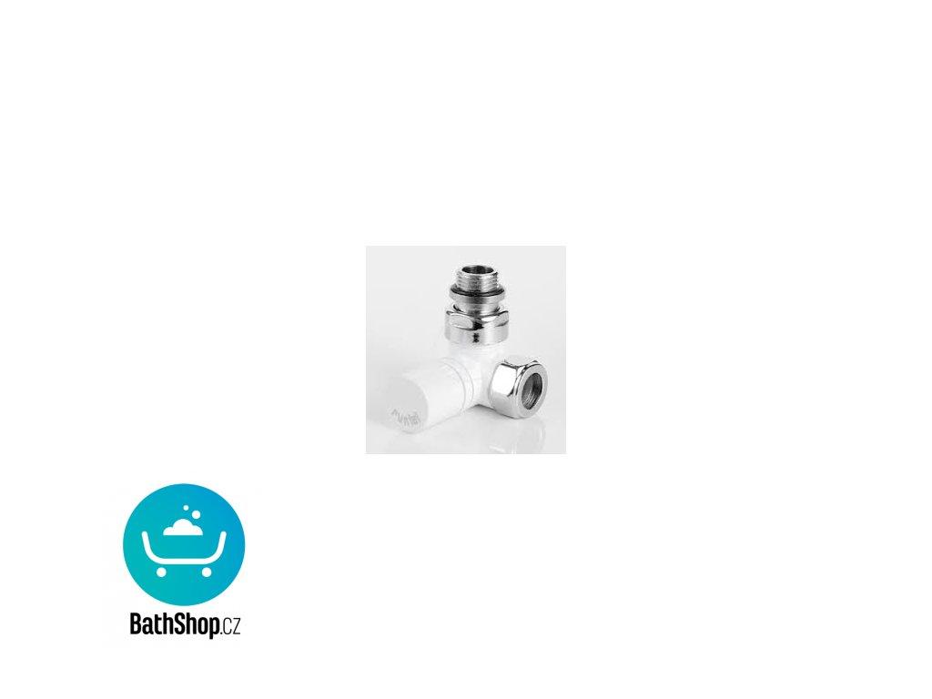 Zehnder Ventil rohový úhlový XS, ruční hlavice vpravo, bílá - 838371