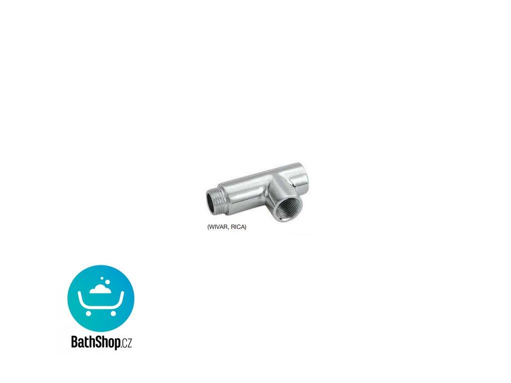 Zehnder T-kus, pro WIVAR/RICA chrom - 853018