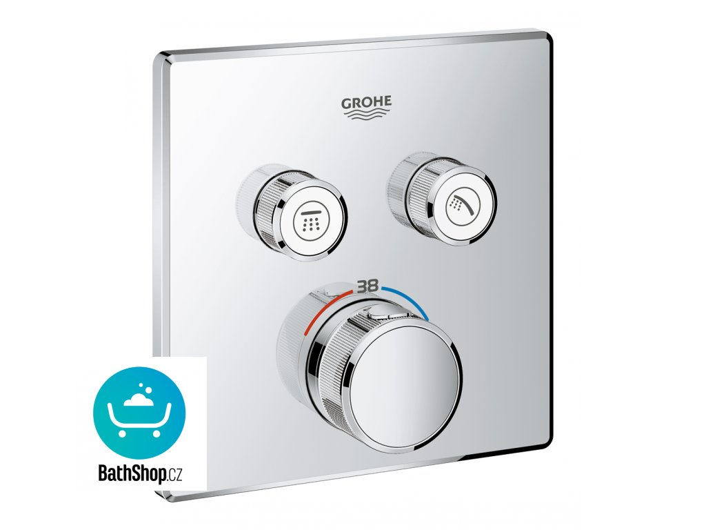 Grohe GROHTHERM SMARTCONTROL Termostat pro podomítkovou instalaci s 2 ventily, chrom - 29124000