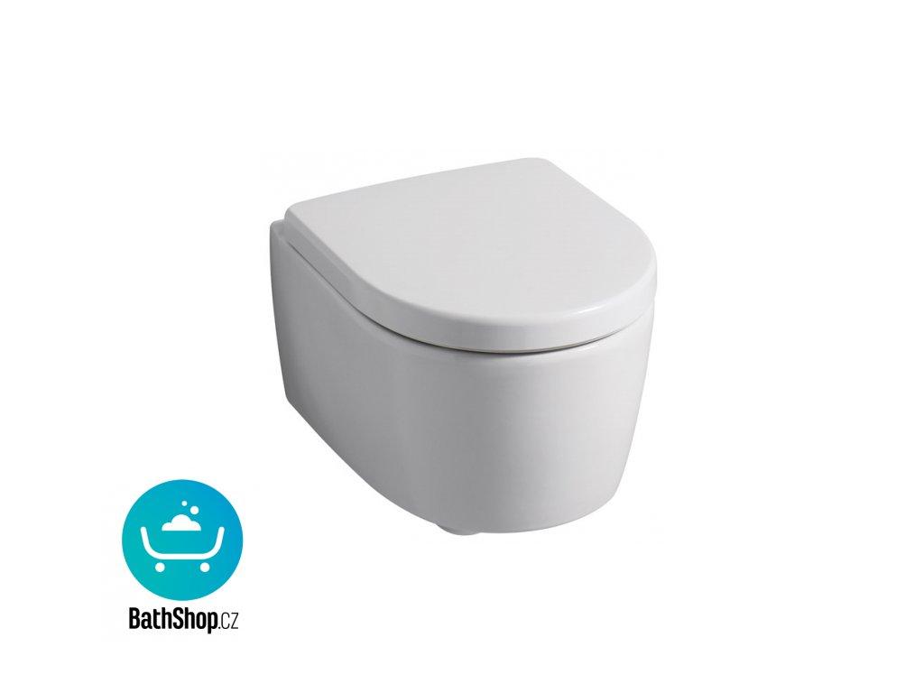 Geberit iCon závěsné WC s hlubokým splachováním, zkrácené vyložení, uzavřený tvar: T=49cm, Bílá - 204030000