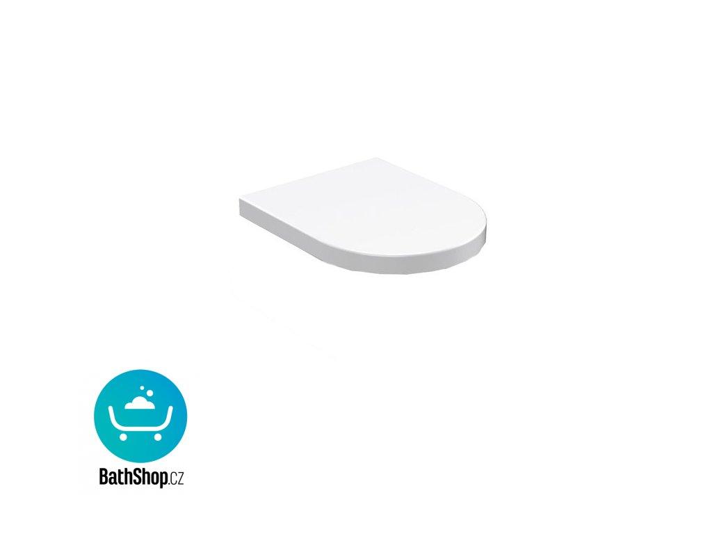 Sapho FLO WC sedátko, termoplast, bílá - 318901