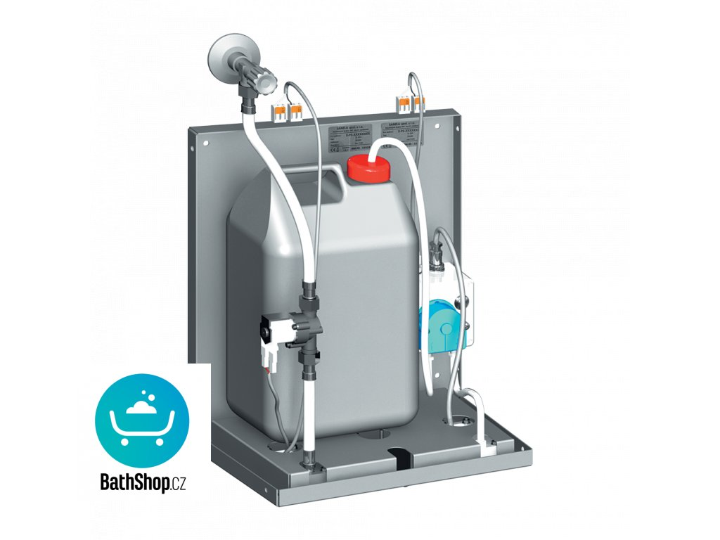 Automatická nástěnná baterie s dávkovačem mýdla pro umístění za zrcadlo, 24 V DC