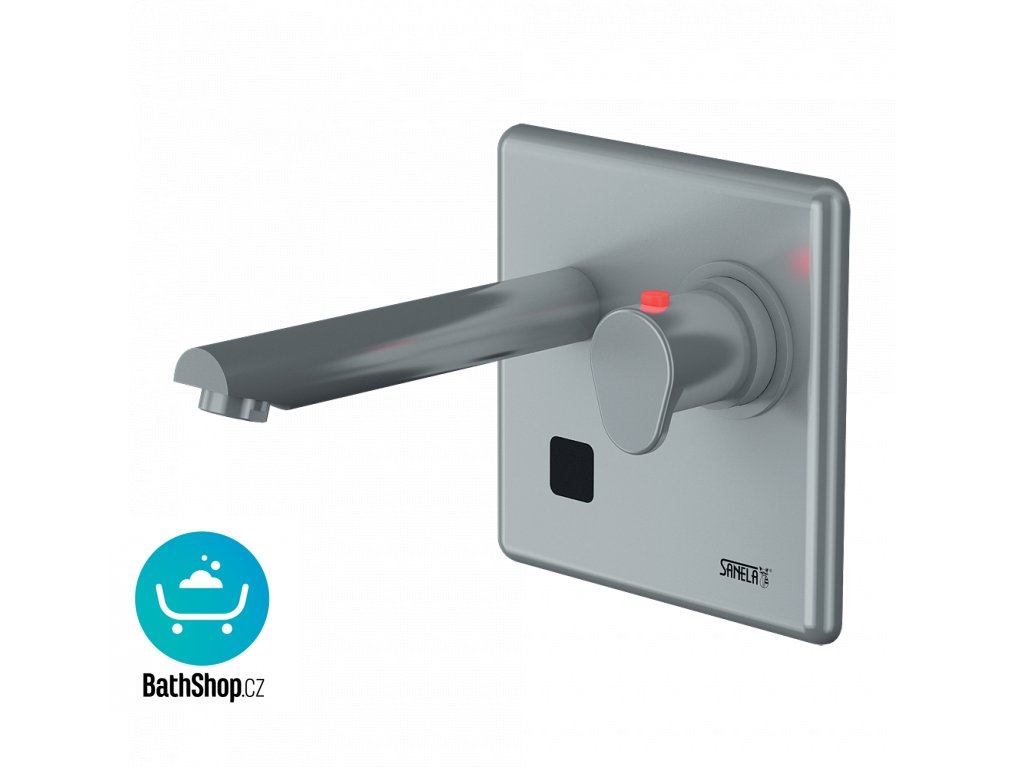 Automatická nástěnná termostatická umyvadlová baterie s elektronikou ALS, délka výtoku 250 mm, 6 V