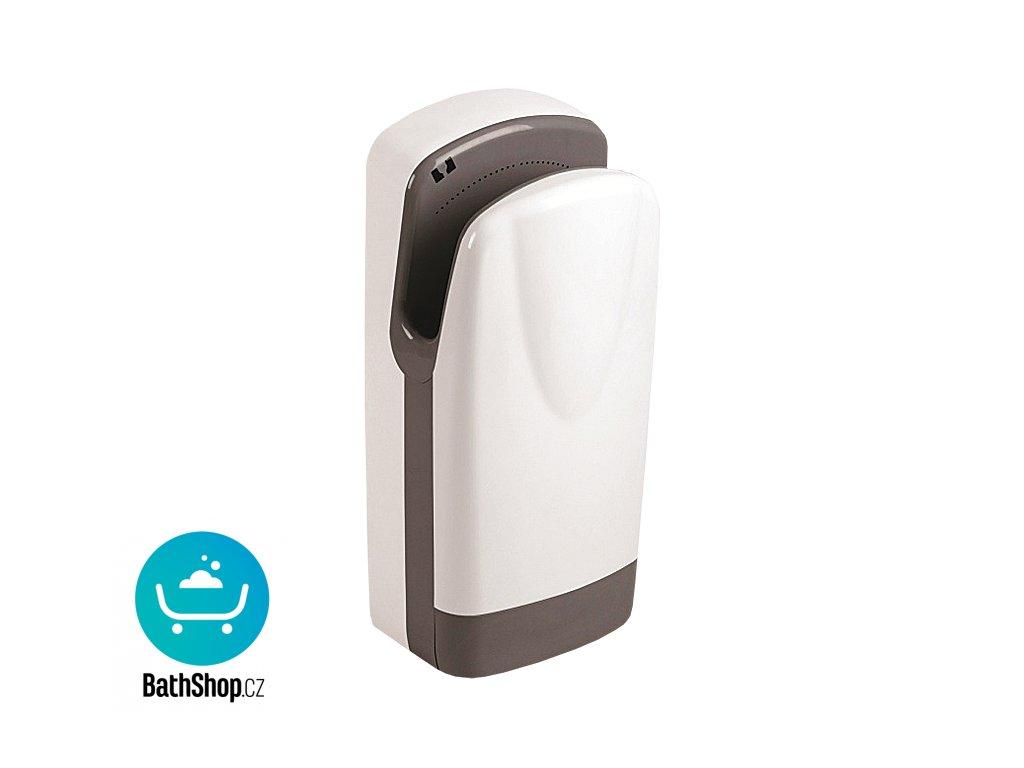 Automatický osoušeč rukou, bílý plastový kryt