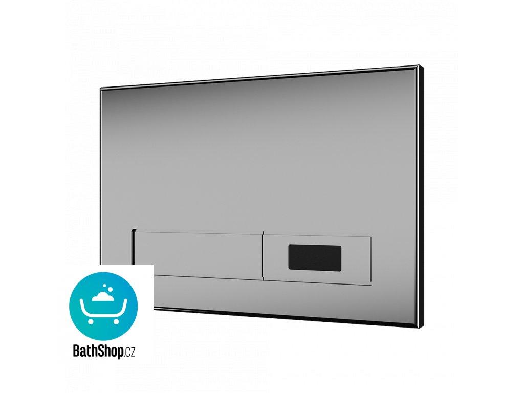 Automatický splachovač WC s elektronikou ALS do montážního rámu SLR 21, nerezové tlačítko, 24 V DC