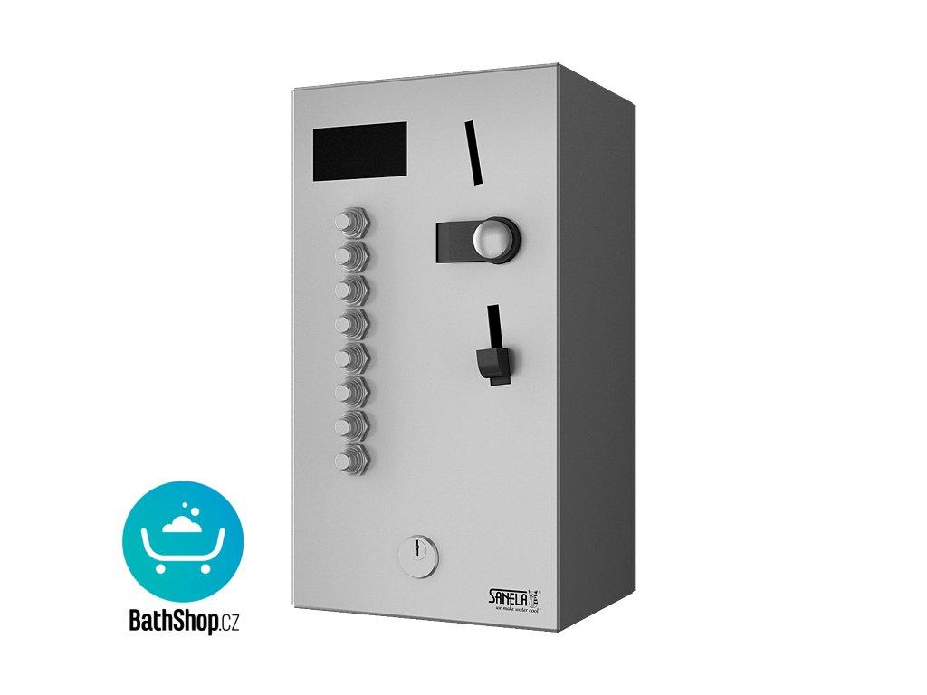 Mincovní automat pro až 8 jednofázových spotřebičů 230 V AC, volba tlačítkem, 24 V DC
