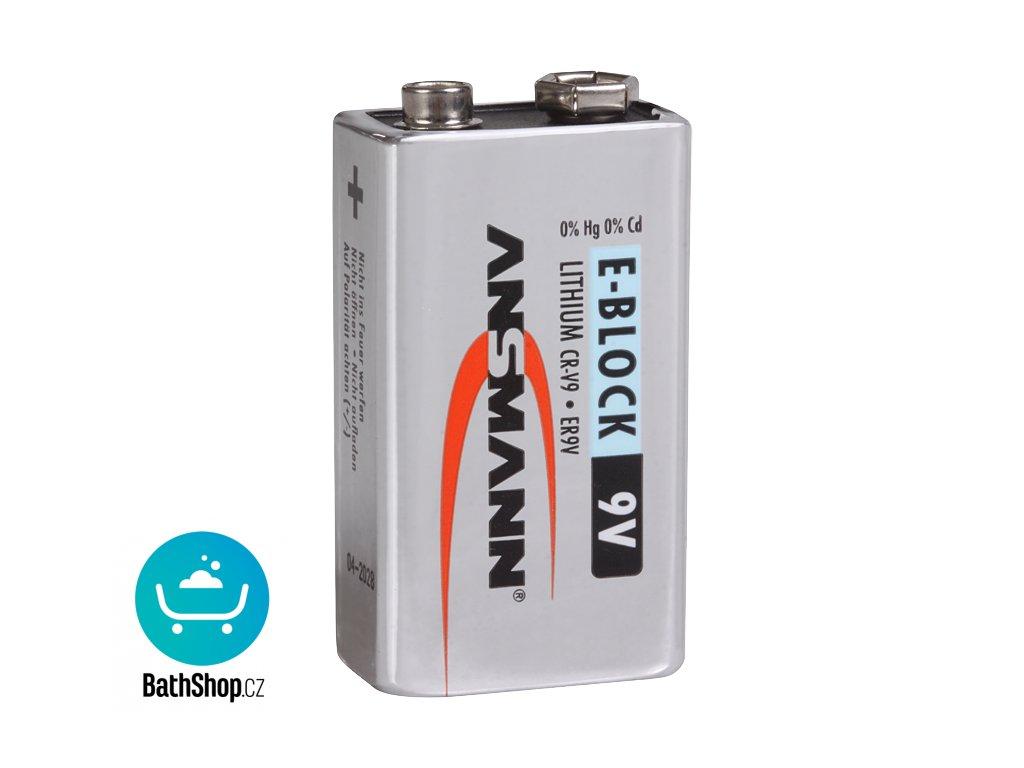 Napájecí lithiová baterie, 9 V/1200 mAh