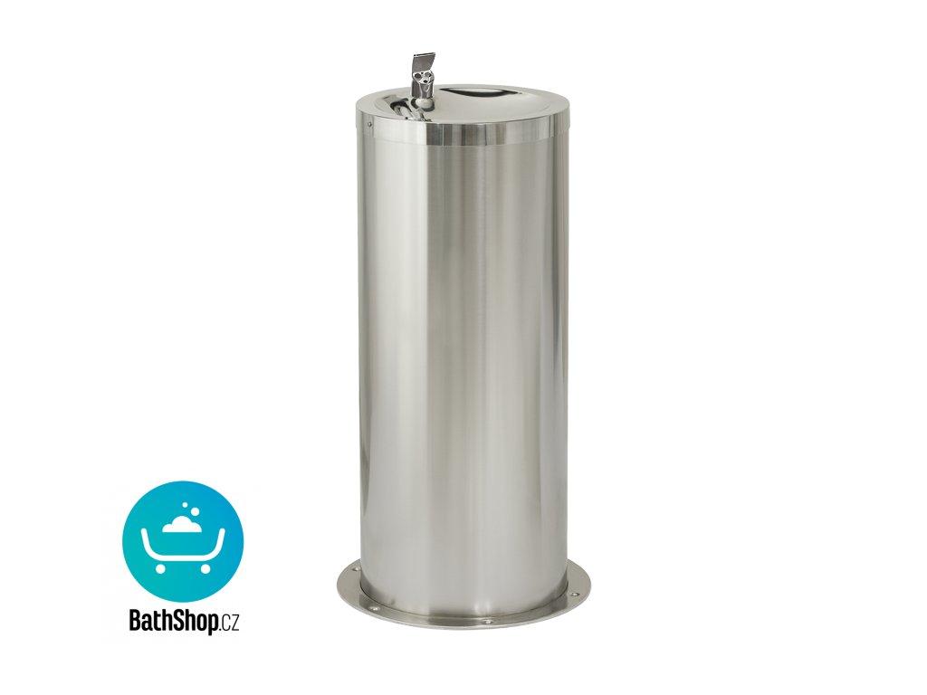 Nerezová pitná fontánka na podlahu s automaticky ovládaným výtokem, 6 V