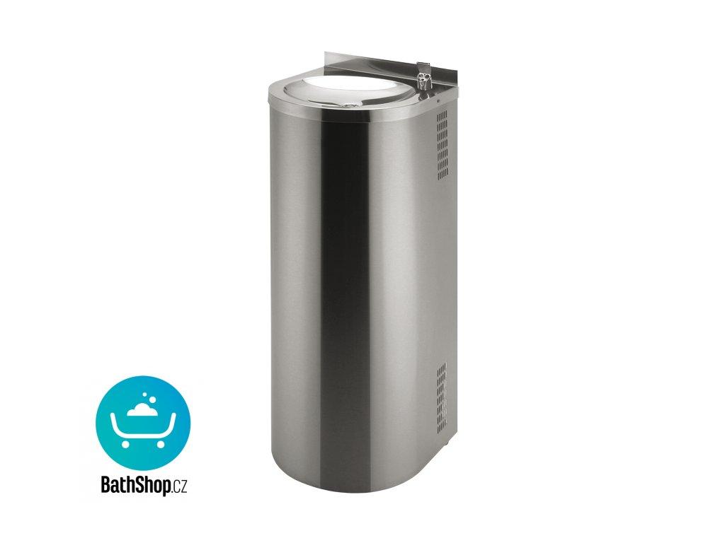 Nerezová pitná fontánka určená k montáži ke stěně s automaticky ovládaným výtokem, 6 V