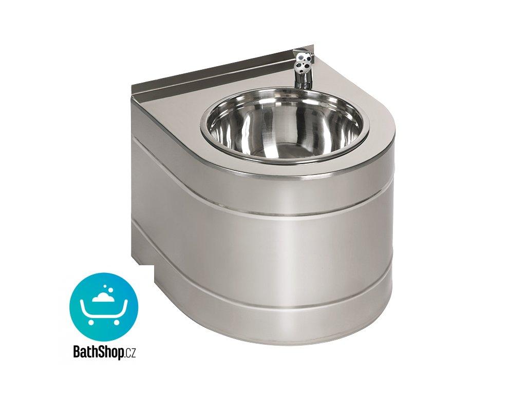 Nerezová pitná fontánka závěsná s automaticky ovládaným výtokem, 6 V