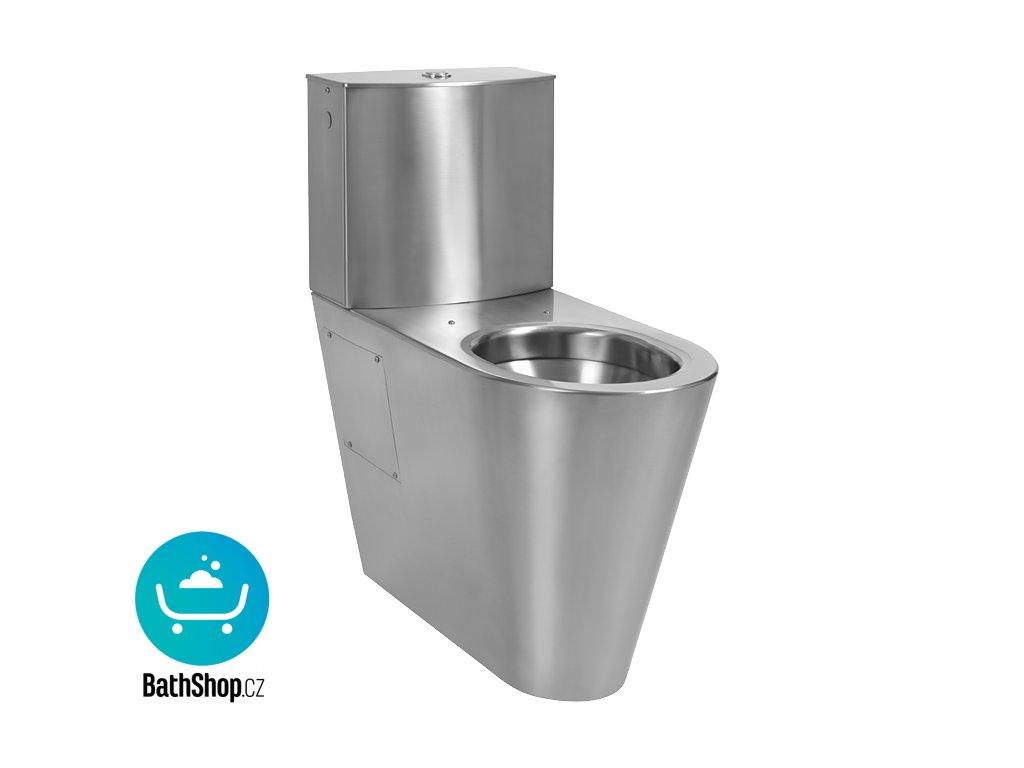 Nerezové kombi WC pro tělesně handicapované, spodní přívod vody