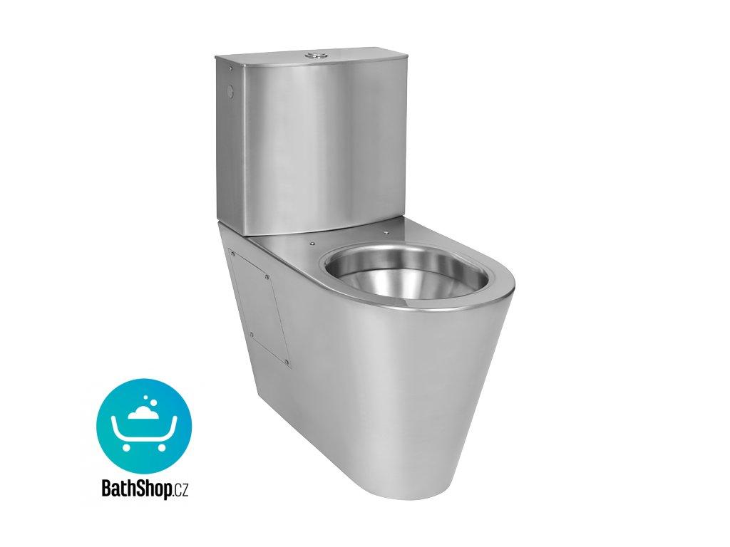 Nerezové kombi WC se spodním přívodem vody