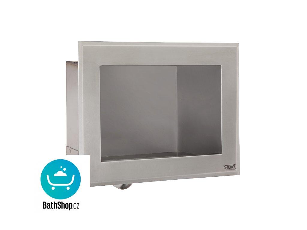 Nerezové zápustné automatické umyvadlo s integrovaným spouštěním vody pro jednotrubkový přívod studené nebo tepelně upravené vody, 24 V DC