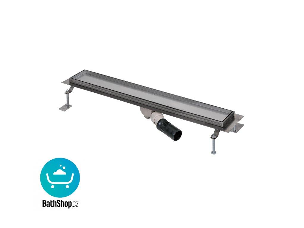 Nerezový koupelnový žlábek pro dlažbu do prostoru, délka 950 mm
