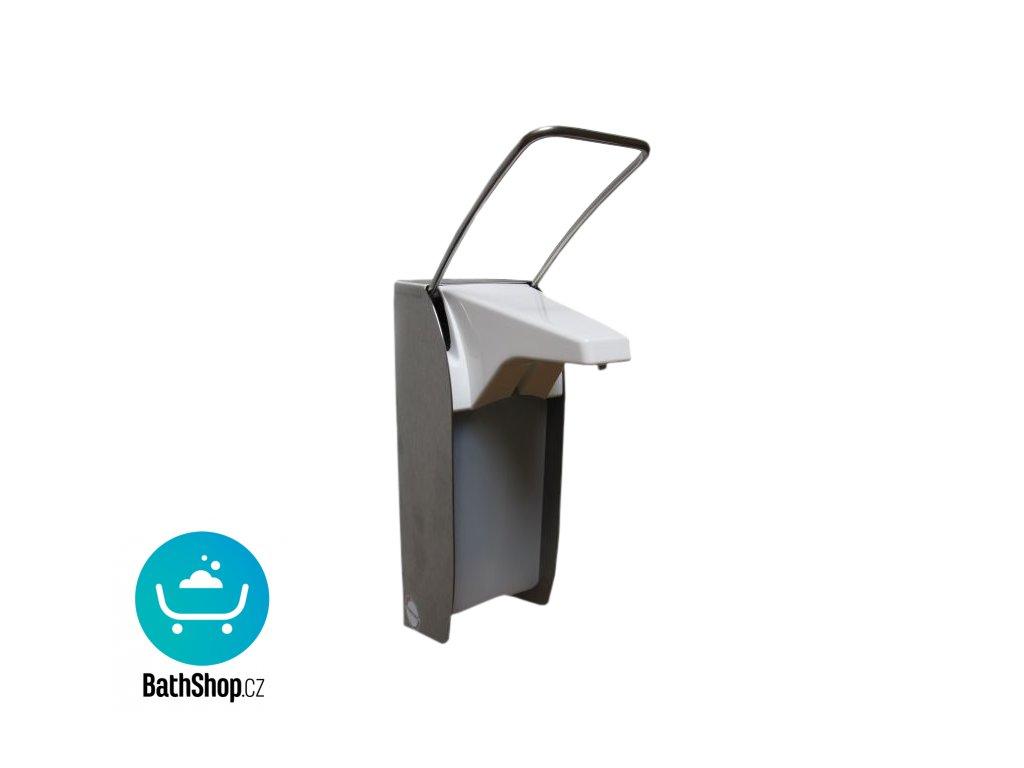 Nerezový nástěnný dávkovač na tekuté i gelové dezinfekce a mýdla