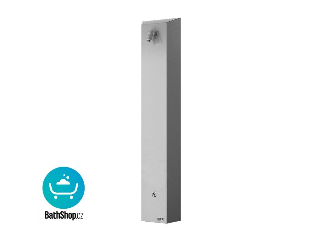 Nerezový sprchový nástěnný panel s piezo tlačítkem - předmíchaná voda