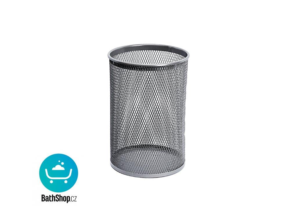 Odpadkový koš kulatý, šedý, 13 l