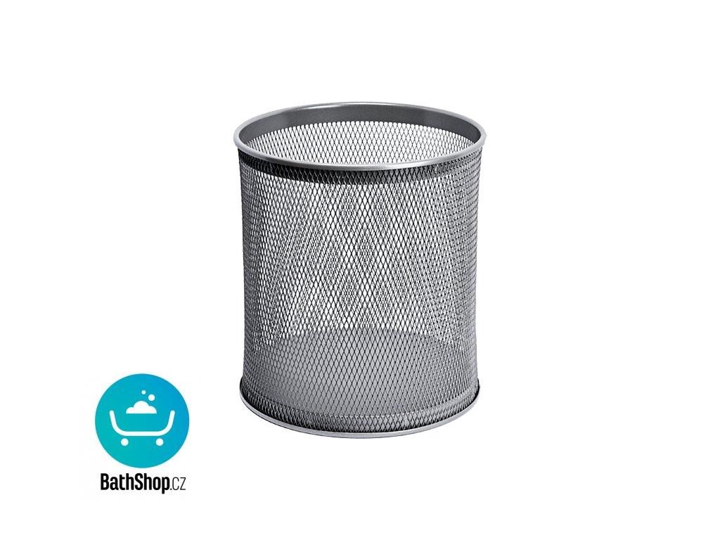 Odpadkový koš kulatý, šedý, 21 l