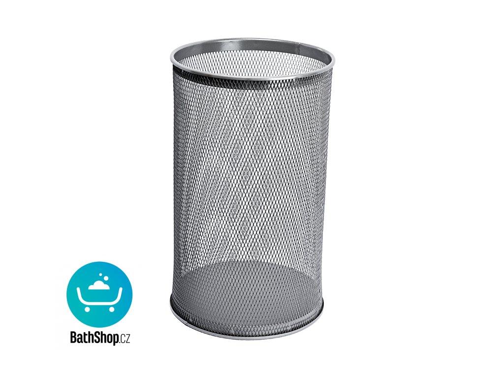 Odpadkový koš kulatý, šedý, 32 l