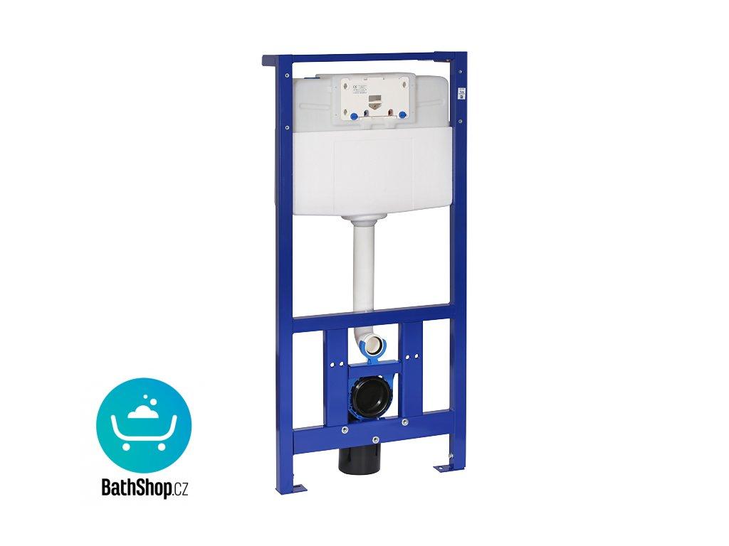 Rám s nádržkou určený do sádrokartonových konstrukcí nebo pro ukotvení na zem a do zadní zdi, pro zabudování suchým procesem, pro uchycení závěsného WC