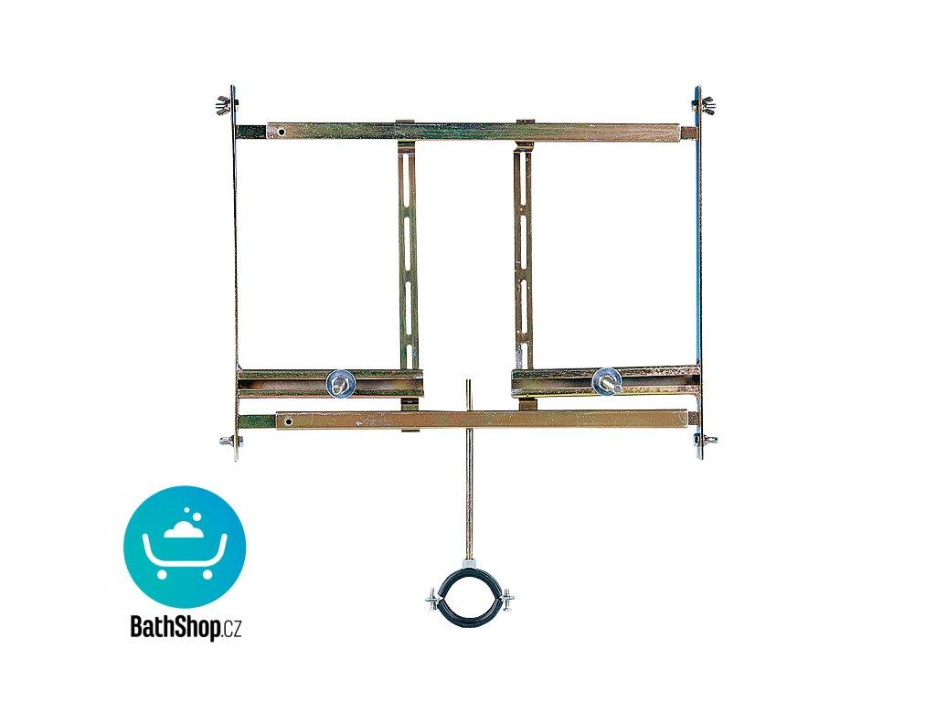 Rám určený do sádrokartonových konstrukcí pro pisoár s radarovým splachovačem