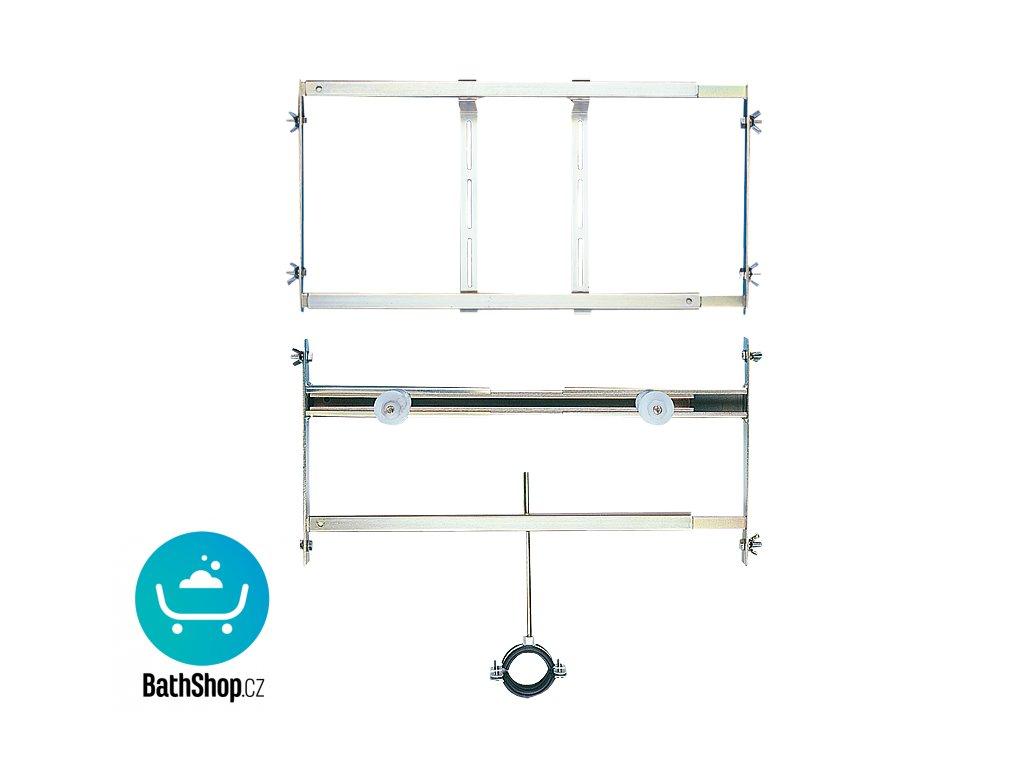 Rám určený do sádrokartonových konstrukcí pro pisoár se splachovačem umístěným nad pisoárem