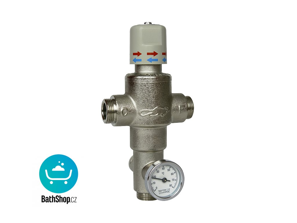 """Termostatický ventil 3/4"""" (43 l/min. při tlaku 0,1 MPa)"""