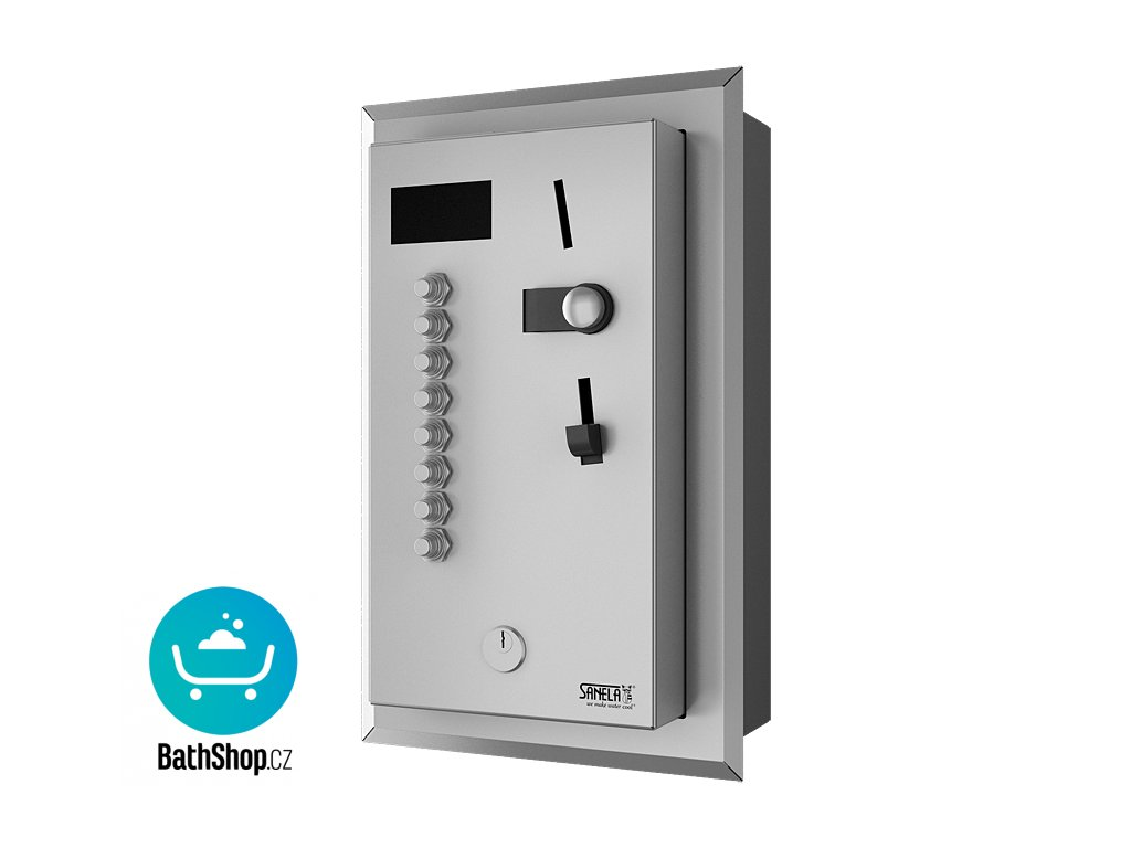 Vestavěný automat pro čtyři až osm sprch, 24 V DC, volba sprchy uživatelem, interaktivní ovládání