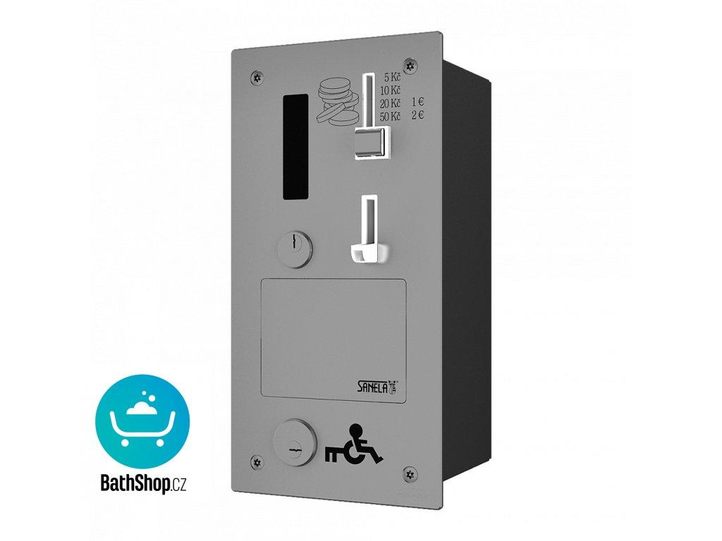 Vestavěný mincovní automat dveřního zámku, GSM, eurozámek, 24 V DC