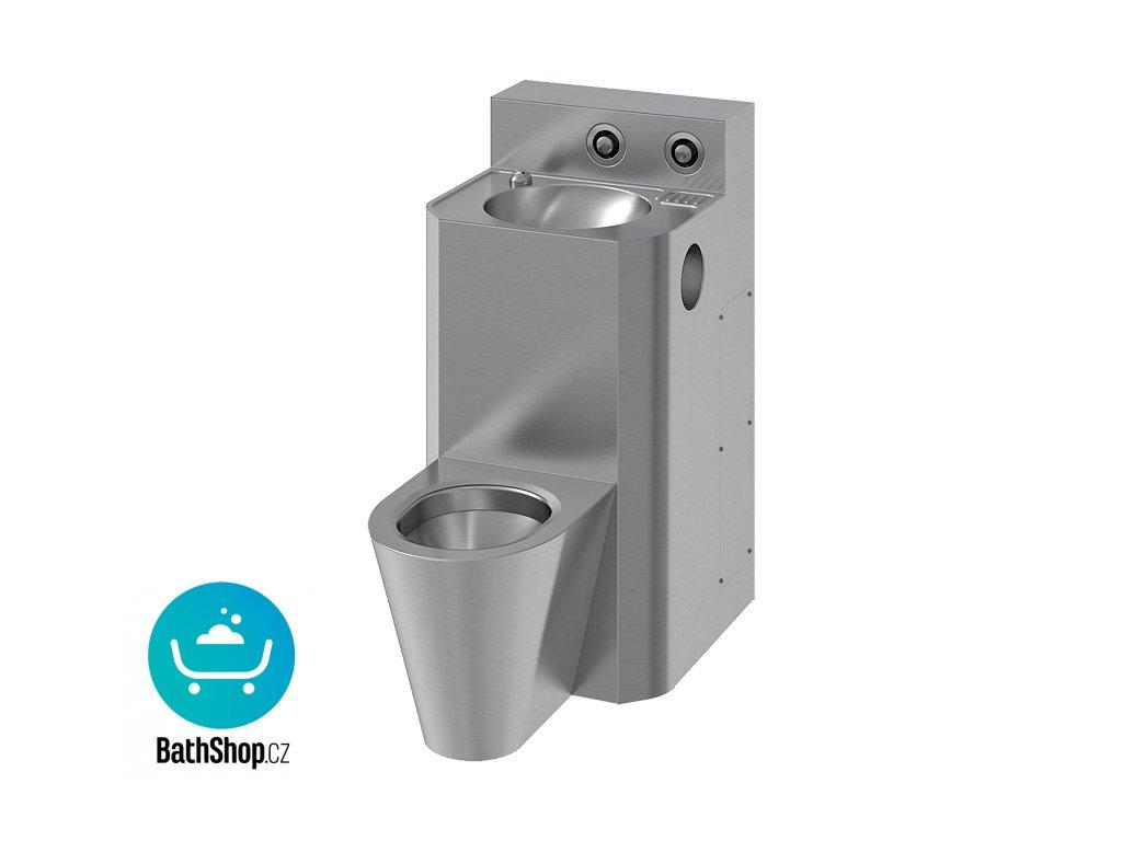 WC s umyvadlem rovný, WC závěsné, servisní otvor