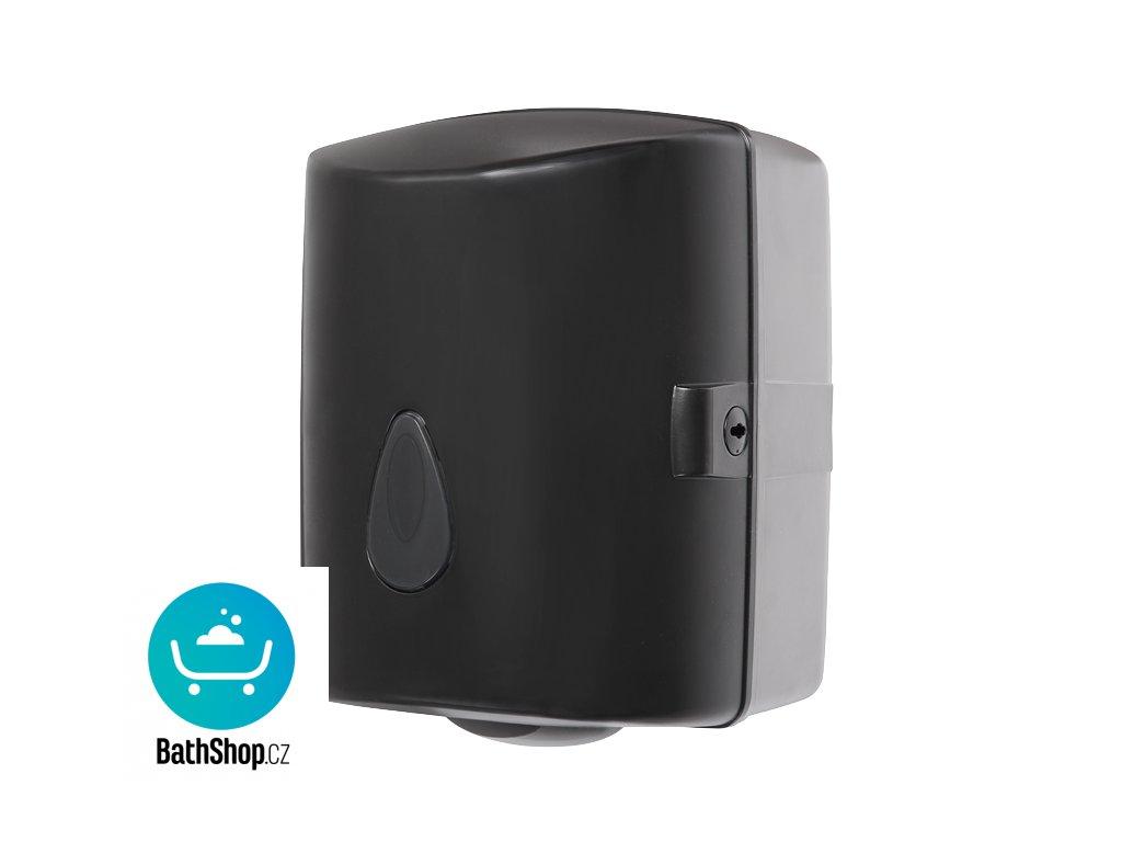 Zásobník na papírové ručníky v rolích, materiál černý plast ABS