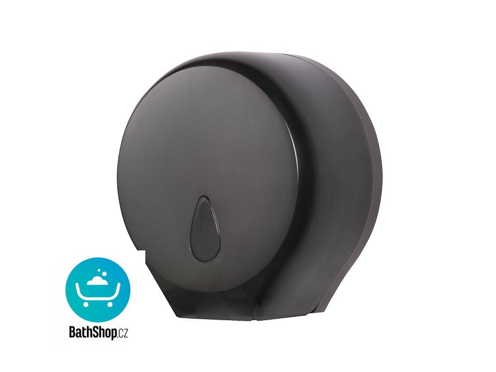 Zásobník na toaletní papír, materiál černý plast ABS