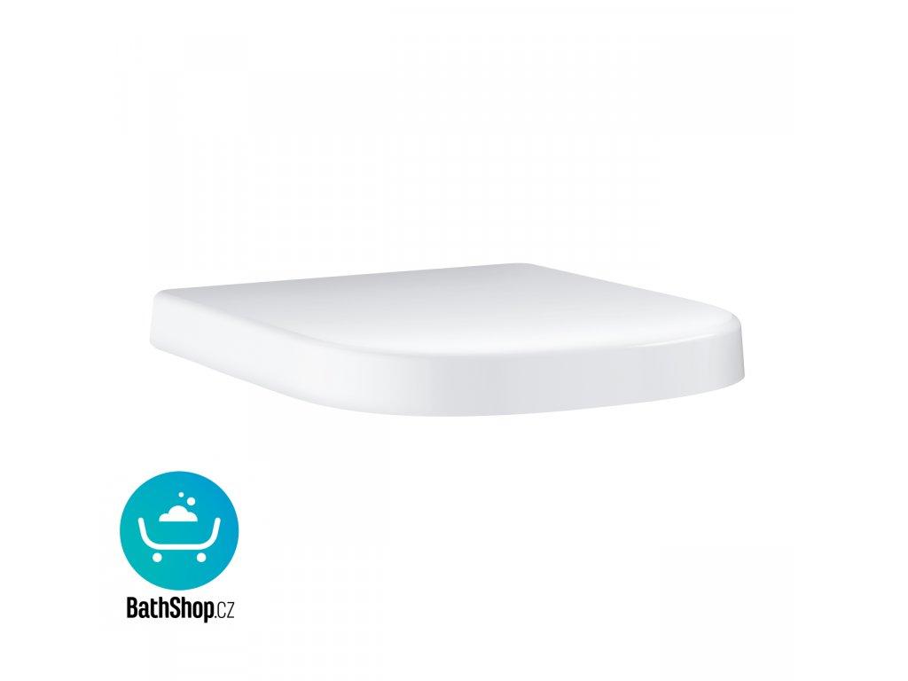 Grohe Euro Ceramic WC sedátko kompaktní, se sklápěním SoftClose, duroplast, alpská bílá -