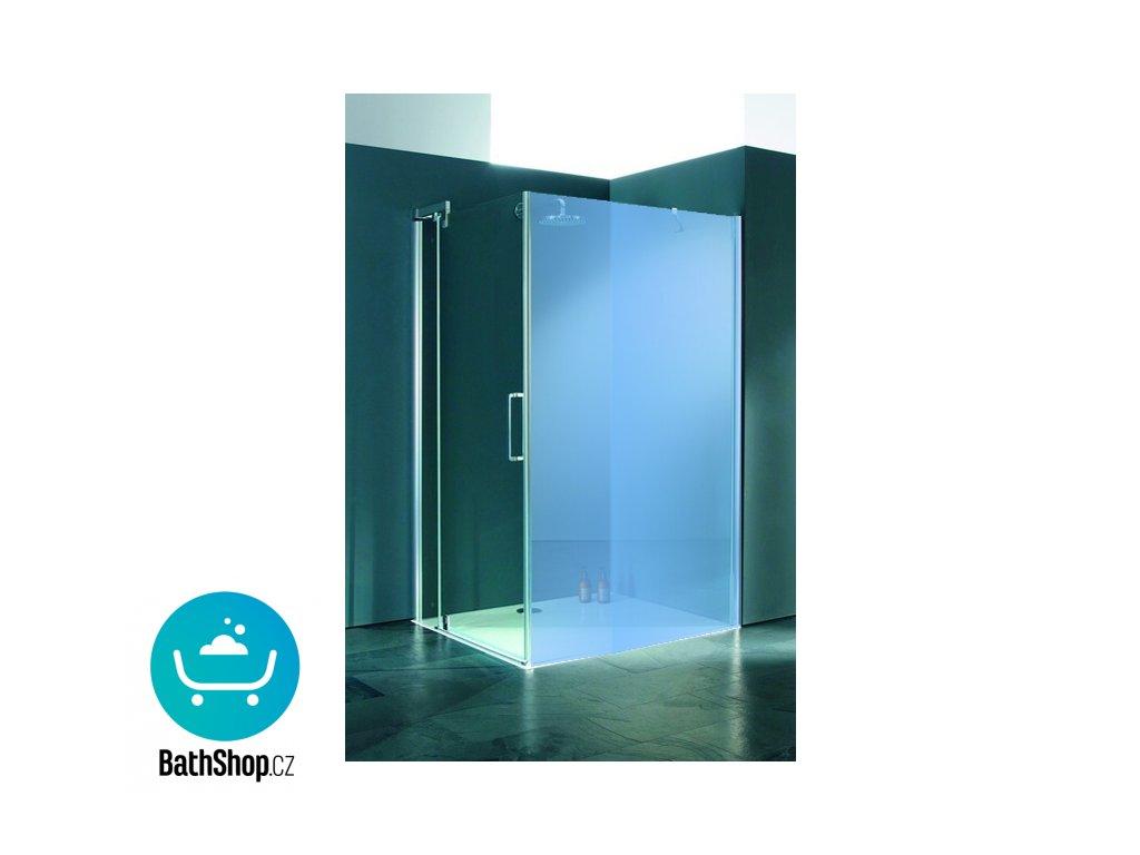 Hueppe REFRESH pure Křídlové dveře s pevným segmentem pro boční stěnu - 9P0508.087.322
