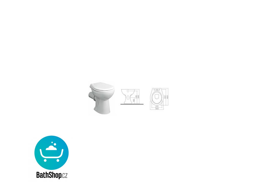 Kolo Nova WC stojící odpad vodorovný, hlub.splach. 6l -23000000