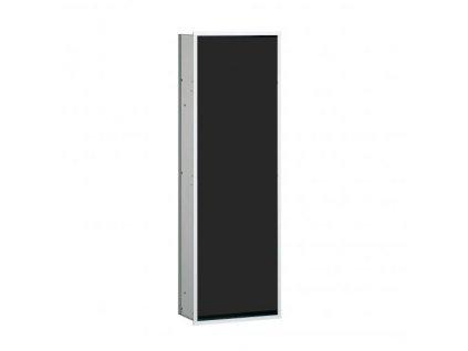 Emco Asis podomítkový skříňkový modul - aluminium/černá -  977027563