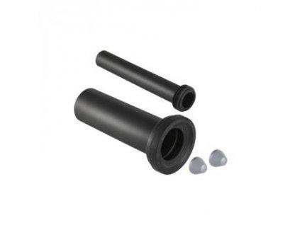Geberit odpadní připojovací sada pro závěsné WC, délka 30 cm: d=110mm, d1=45mm, Pochromovaná mat - 152.439.46.1