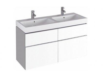 Geberit iCon - Skříňka pod dvojumyvadlo 1200 mm, 4 zásuvky, matná bílá - 841520000